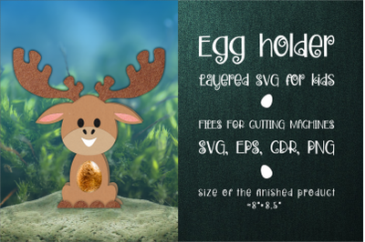 Moose Christmas Chocolate Egg Holder SVG