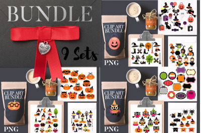 Halloween Witch Clip art Big Bundle