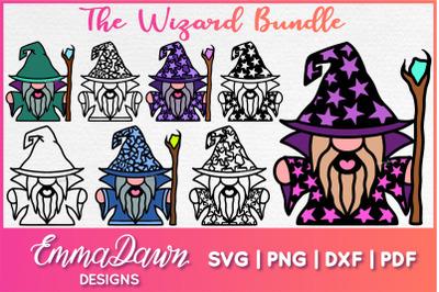 The WIZARD SVG BUNDLE 8 MANDALA ZENTANGLE DESIGNS