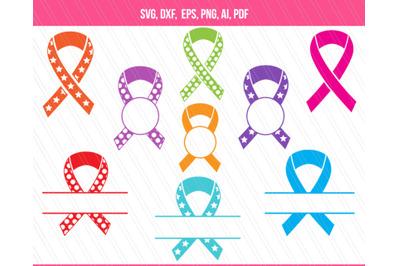 Awareness ribbons svg cutting files,  Ribbons vector
