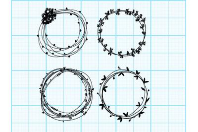Circle Wreath drawing