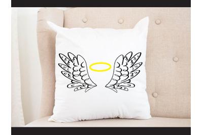 Hand draw Wing angel