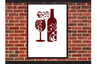 Wine glass Swirls