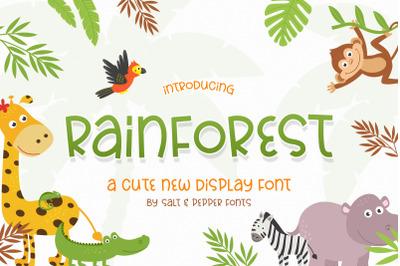 Rainforest Font (Cute Fonts, Kids Fonts, Playful Fonts)