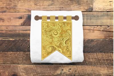 Renaissance Banner Flag | Applique Embroidery