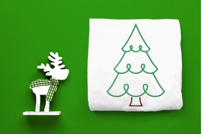 Whimsical Christmas Tree Outline | Embroidery