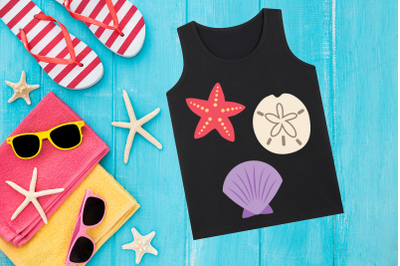 Beachcomber Shell Trio | SVG | PNG | DXF | EPS