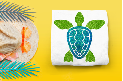 Sea Turtle Top View | SVG | PNG | DXF | EPS