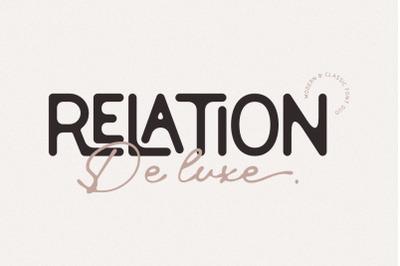 Relation De Luxe - Font Duo