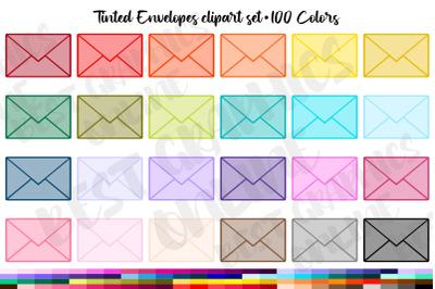 Tinted Envelope clipart, Envelopes clip art set Mail Graphic
