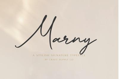 Marny - Stylish Signature Typeface