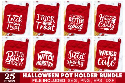 Halloween Pot Holder SVG Bundle