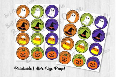 Halloween Ghost Pumpkin Candy Corn Party Favor Stickers