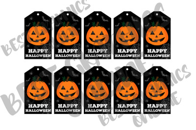 Happy Halloween Pumpkin Tags Printable