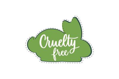 Cruelty free mark icon. Vector symbol product
