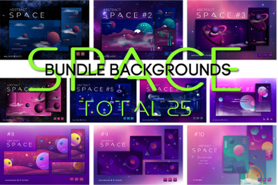 Bundle of space backgrounds.