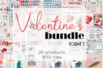 Valentines Bundle. Valentines Day SVG Bundle. Valentines creator. Vale