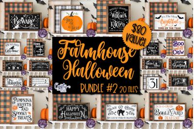 Halloween Svg, Farmhouse Sign, Farmhouse Halloween Bundle 2