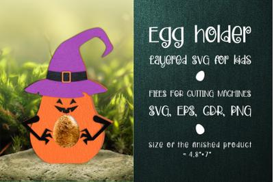 Halloween Pumpkin Egg Holder Template SVG