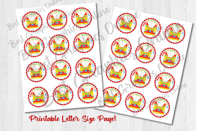 Thanks For Jumping With Me Printable Bounce Jump Stickers
