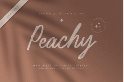 Peachy Handwritten Script