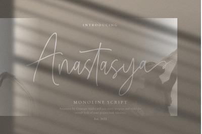 Anastasya Monoline Script