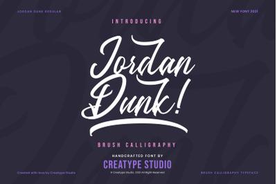 Jordan Dunk Brush Calligraphy