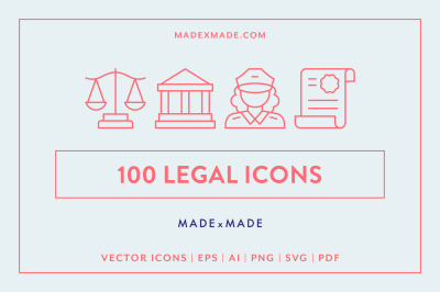 Legal Line Icons