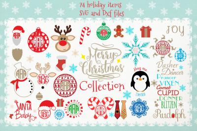 Huge Christmas Bundle SVG DXF files