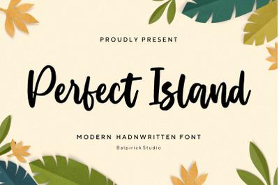 Perfect Island Modern Handwritten Font