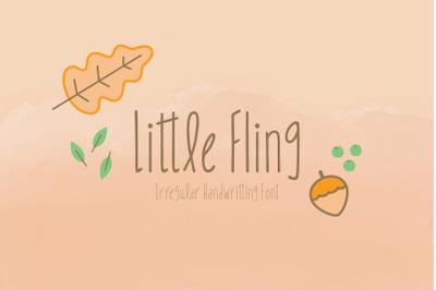 Little Fling Font | Fun Irregular Lettering | Multilingual & Ligatures