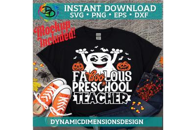 Fa boo Lous Teacher, boo, Teacher svg, Preschool Teacher, Halloween Qu