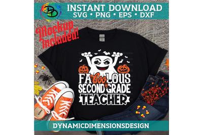 Fa boo Lous Teacher, boo, Teacher svg, Second Grade Teacher, Halloween