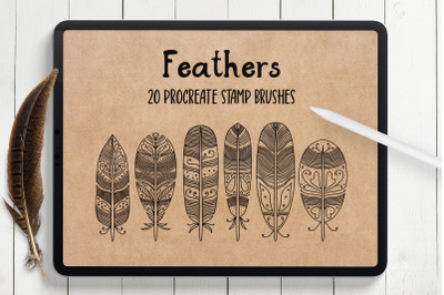Feathers Procreate Stamp Brushes