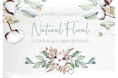 Watercolor Natural Floral Collection