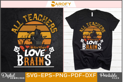 Halloween teacher lover scary T-shirt sublimation
