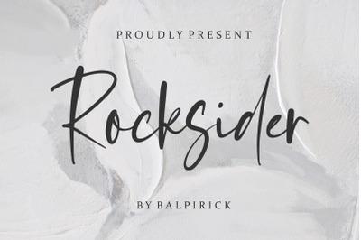 Rocksider Modern Handwritten Font