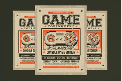 Retro Game Tournament Flyer