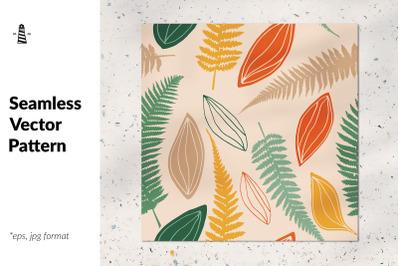 Fren leaf seamless pattern