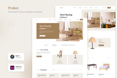 Prabot - Minimalist Furniture Website UI Template