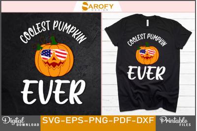 Coolest pumpkin ever Halloween sublimation design