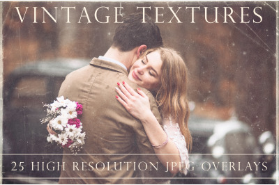 Vintage photo texture overlays
