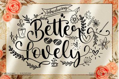 Better Lovely - Beautiful Script Font