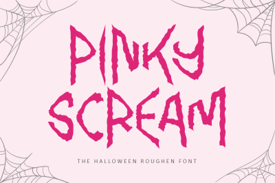 Pinky Scream - Halloween Font