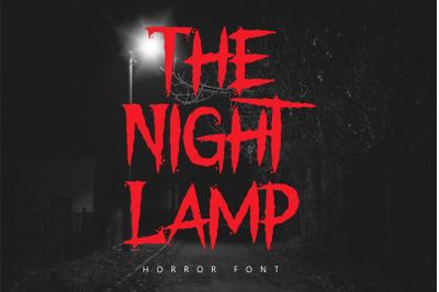 The Night Lamp - Halloween Font