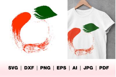 Abstract Apple, graphic design apple illustration