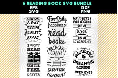 Reading Book SVG Bundle Pack