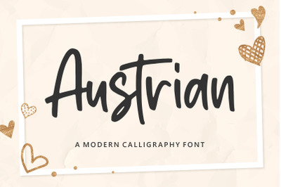 Austrian Modern Calligraphy Font