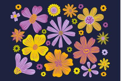 Flower dark set