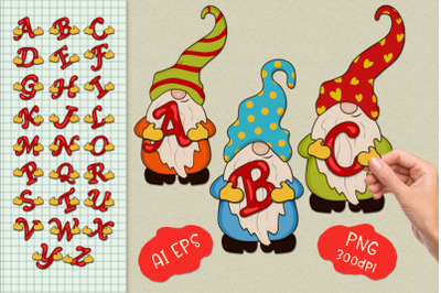 Gnomes with letters. Constructor